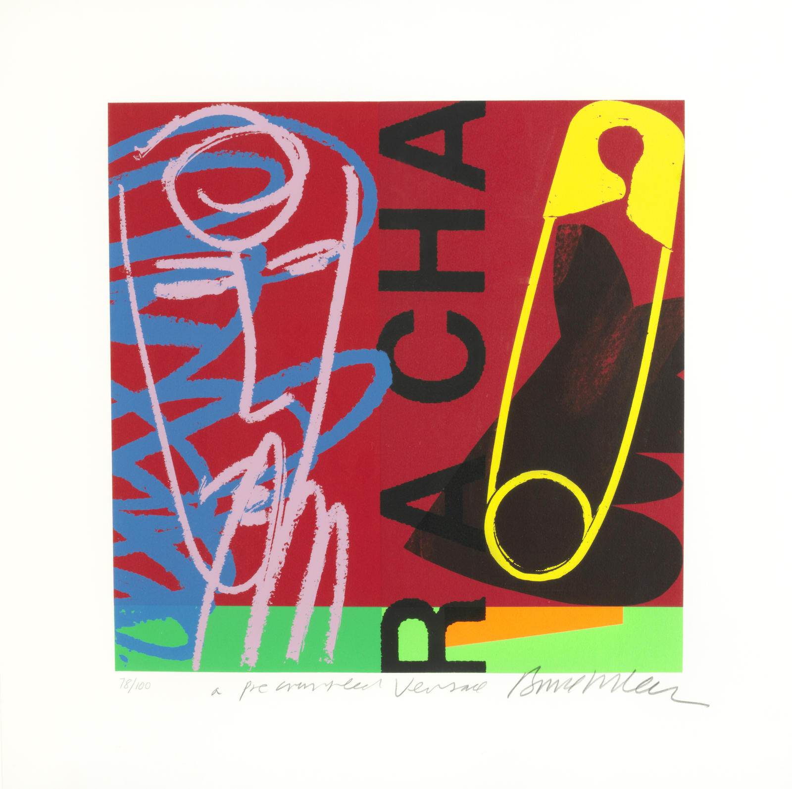 Bruce McLean-A Collection of Eight Works ('Cactus Head'; 'Spaghetti alle Vongole Twice'; 'Another Bad Night Out On Sausage Street'; 'Untitled (Irn Bru)'; 'Room for Manoeuvre: A Three Point Turn'; 'Room for Improvement - A Nouveau Niche'; 'Room for a view – A double glazed Patio Door'; 'Room for a Change – A pre-crumpled Versace')-