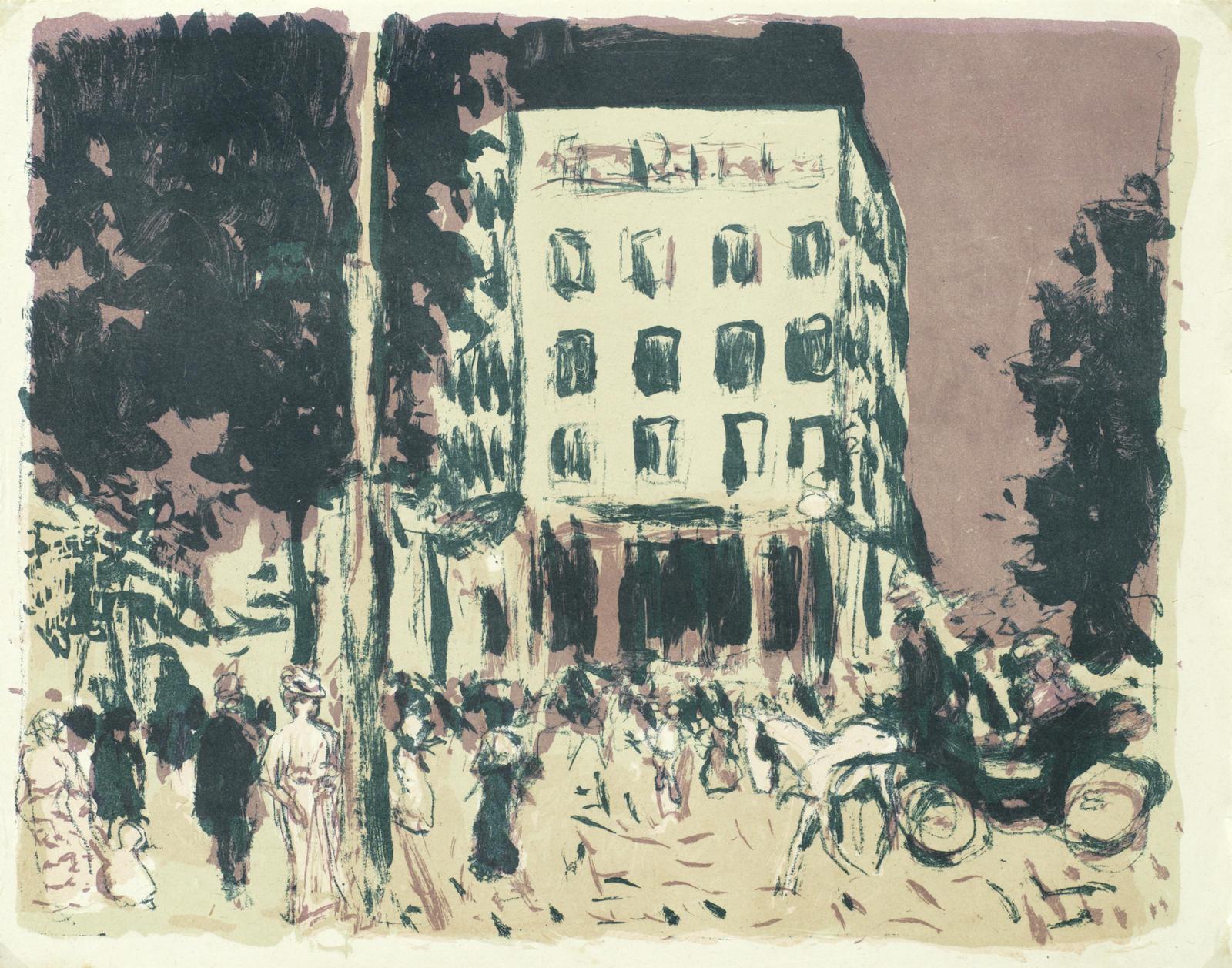 Pierre Bonnard-Les Boulevards, from 'Mappenwerk der Insel' (Bouvet 72)-1900