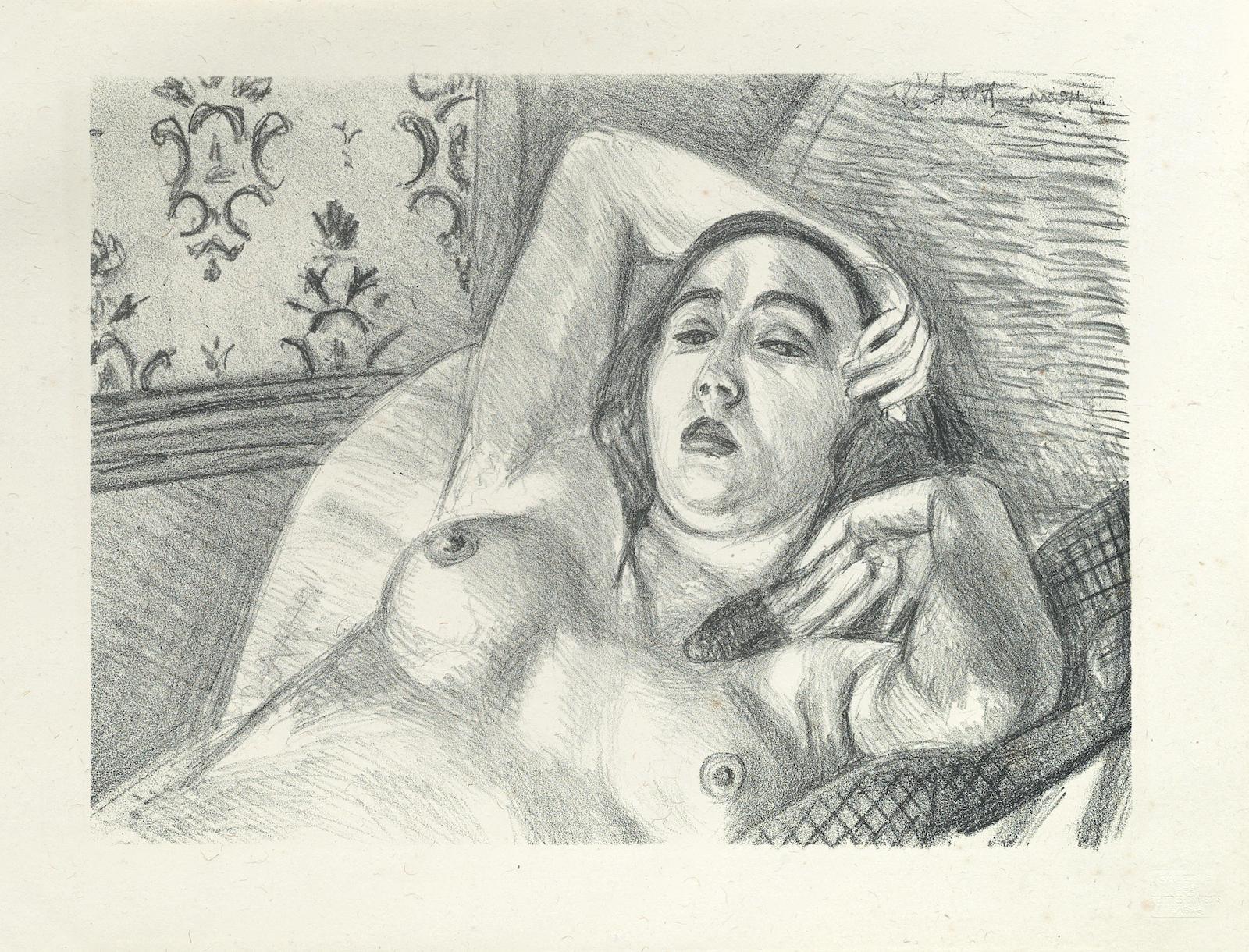 Henri Matisse-Repos du Modele (Duthuit 416)-1922