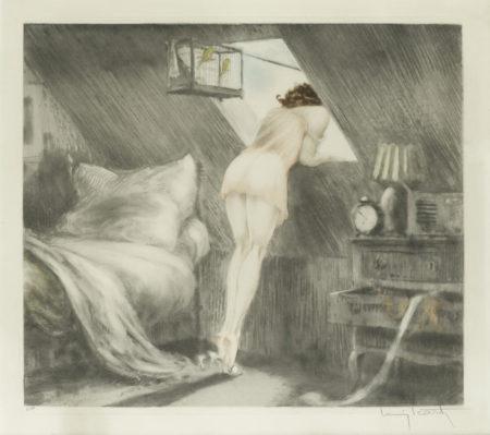 Louis Icart-The Attic Room (Sous le Toit)-1940