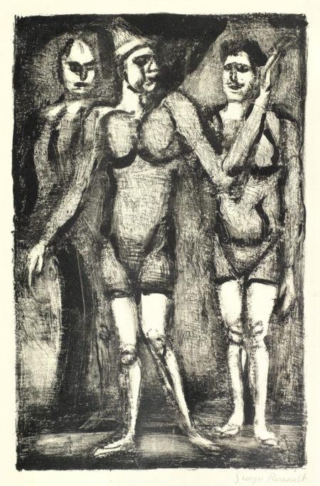 Georges Rouault-Three Lithographs (Chapon 324, 322, 319): Lutteuse, Bonimont du Clown, Parade-1929