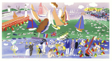 Raoul Dufy-After Raoul Dufy - Baie de Sainte Adresse; Anemones-1942