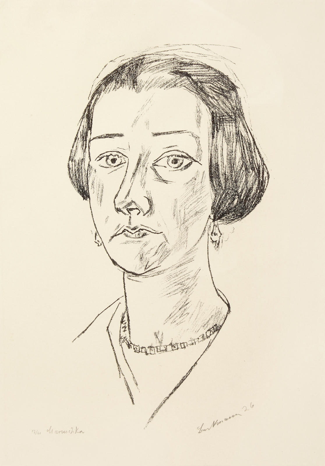 Max Beckmann-Bildnis Frau Swarzenski (H.290; Ga. 278)-1925