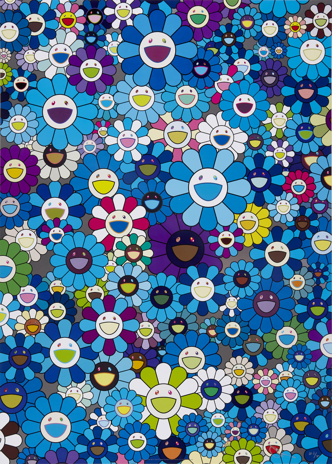 Takashi Murakami-An Homage to IKB 1957 C; An Homage to Monopink 1960 A; An Homage to Monogold 1960 A; An Homage to Yves Kline, Multicolor C-2012