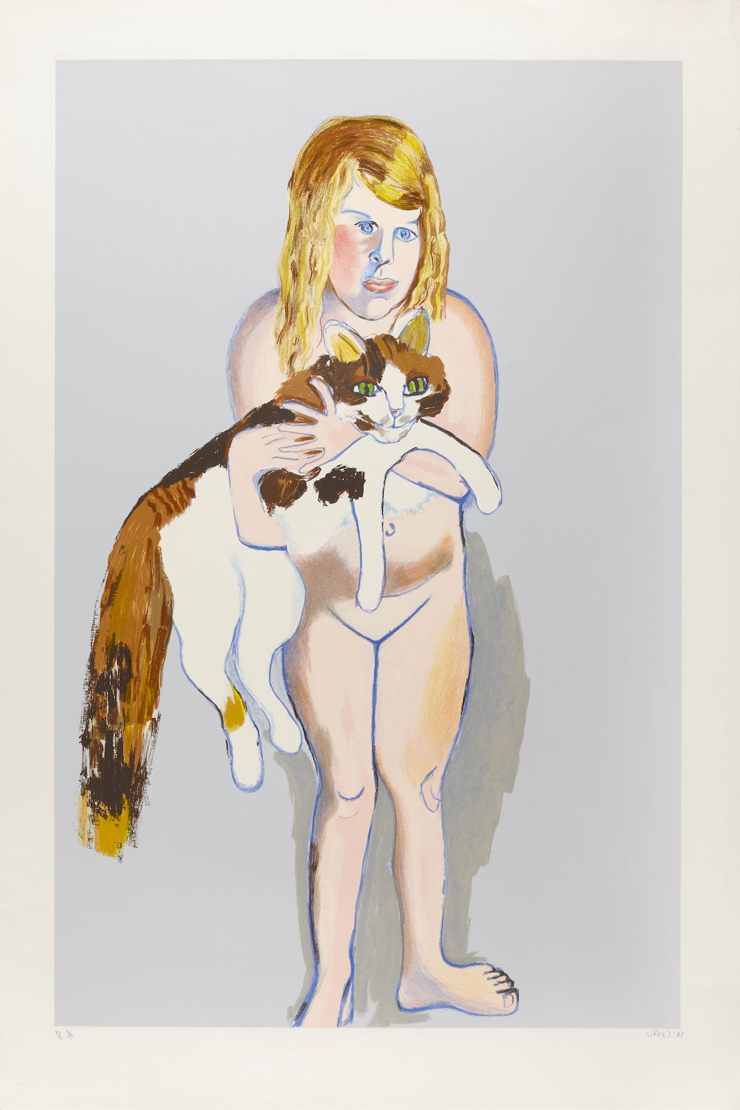 Alice Neel-Victoria and Cat-1981