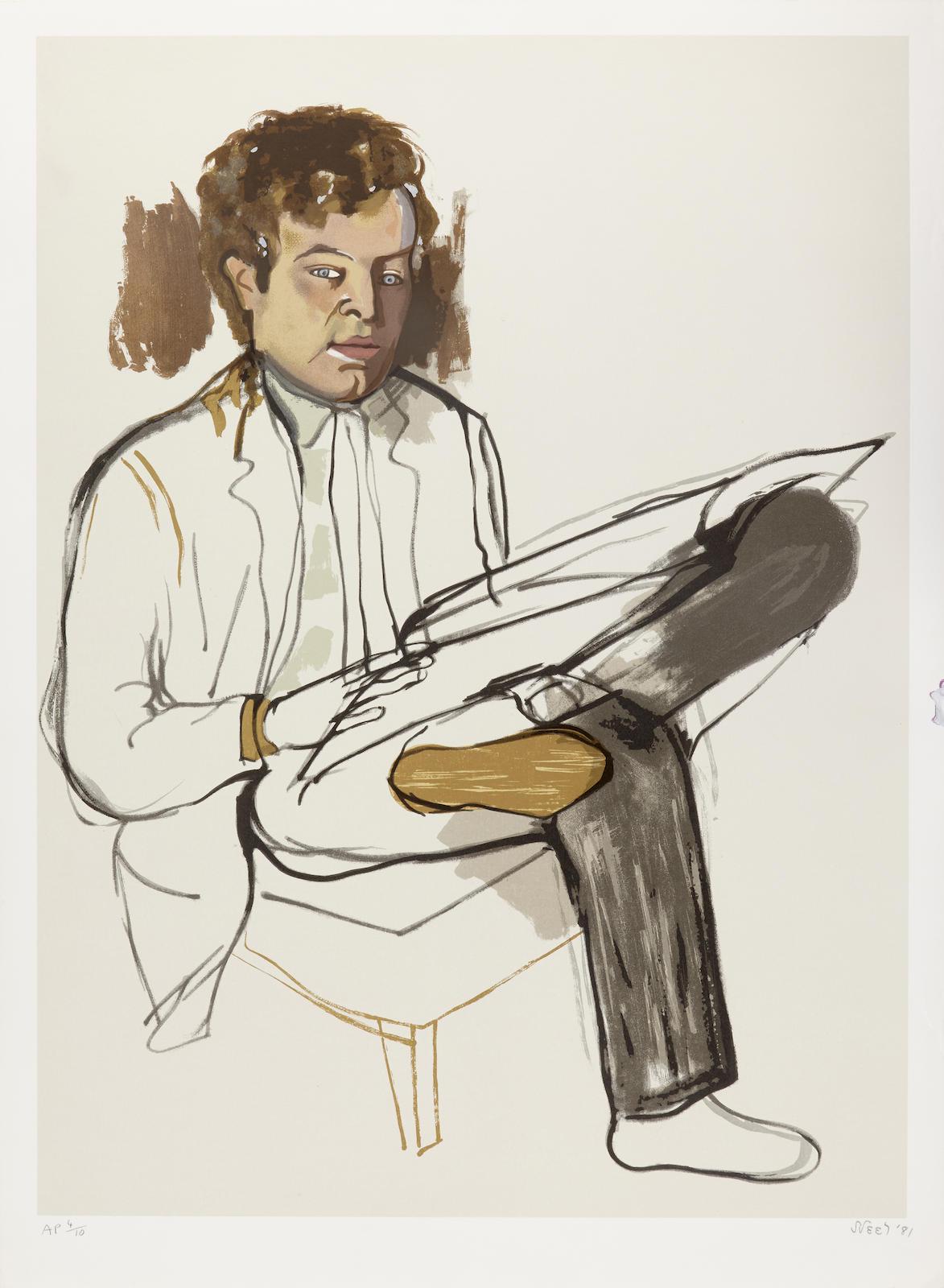 Alice Neel-Portrait of Edward Avedesian-1981