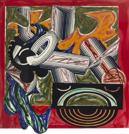 Frank Stella-Then came a Dog and Bit the Cat, from Illustrations after El Lissitzky's Had Gadya series-1984