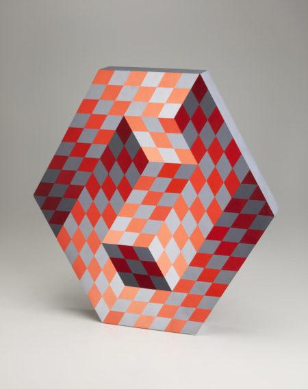 Victor Vasarely-Gestalt-AJ (Double-sided)-1985
