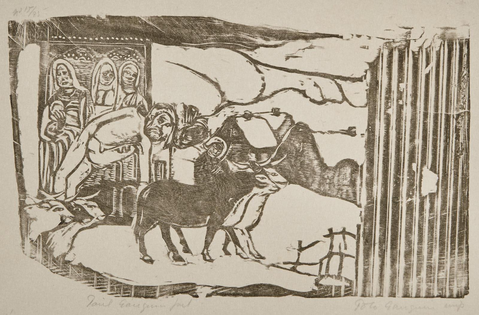 Paul Gauguin-Le Calvaire Breton (G. 50d)-1899