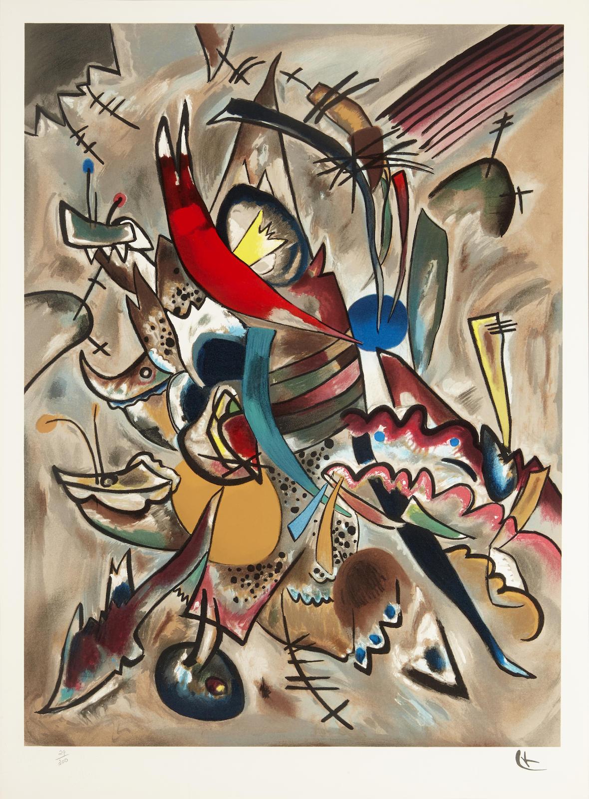 Wassily Kandinsky-After Wassily Kandinsky - Two Ovals, 1919-1919