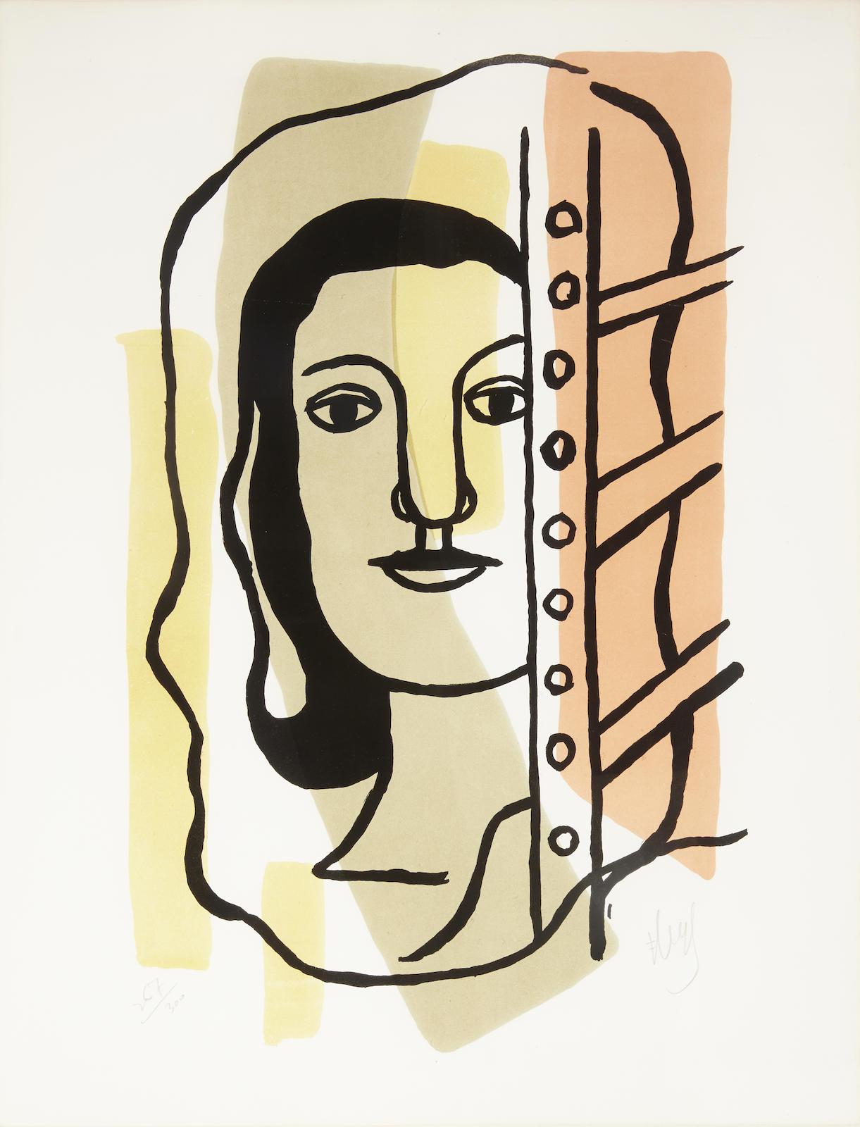 Fernand Leger-Tete de Femme (S. 42)-1949