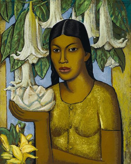 Alfredo Ramos Martinez-After Alfredo Ramos Martinez - La India de Las Floripondias, c. 1948-1948