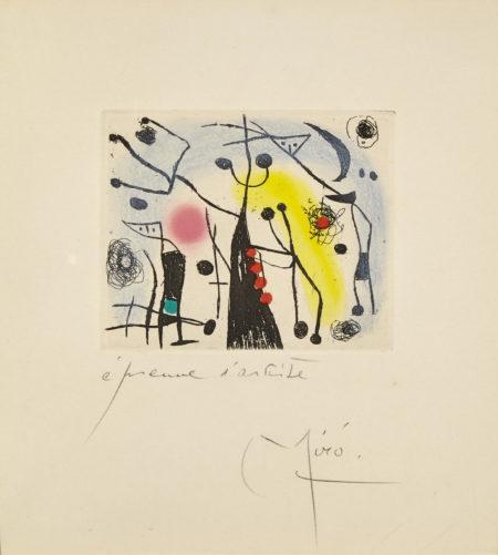 Joan Miro-Les Magdaleniens (D. 154)-1958