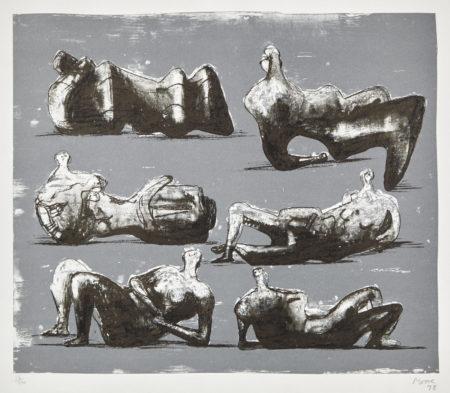 Henry Moore-Six Reclining Figures (C. 298)-1973