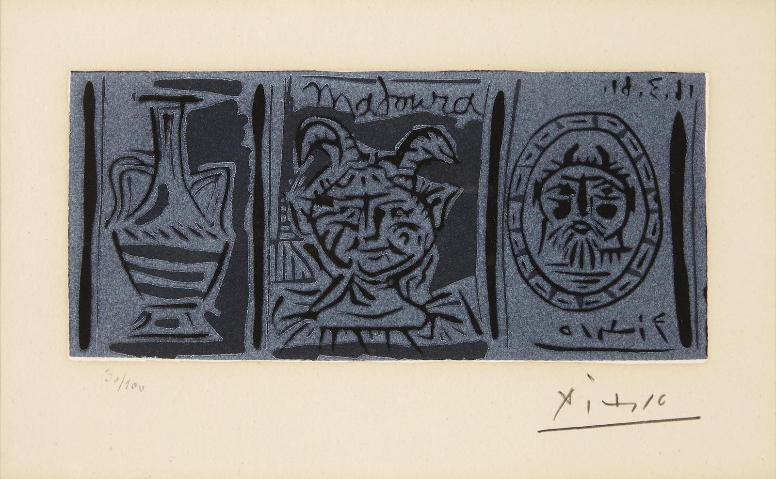 Pablo Picasso-Madoura (B. 1021; Ba. 1270ii)-1961