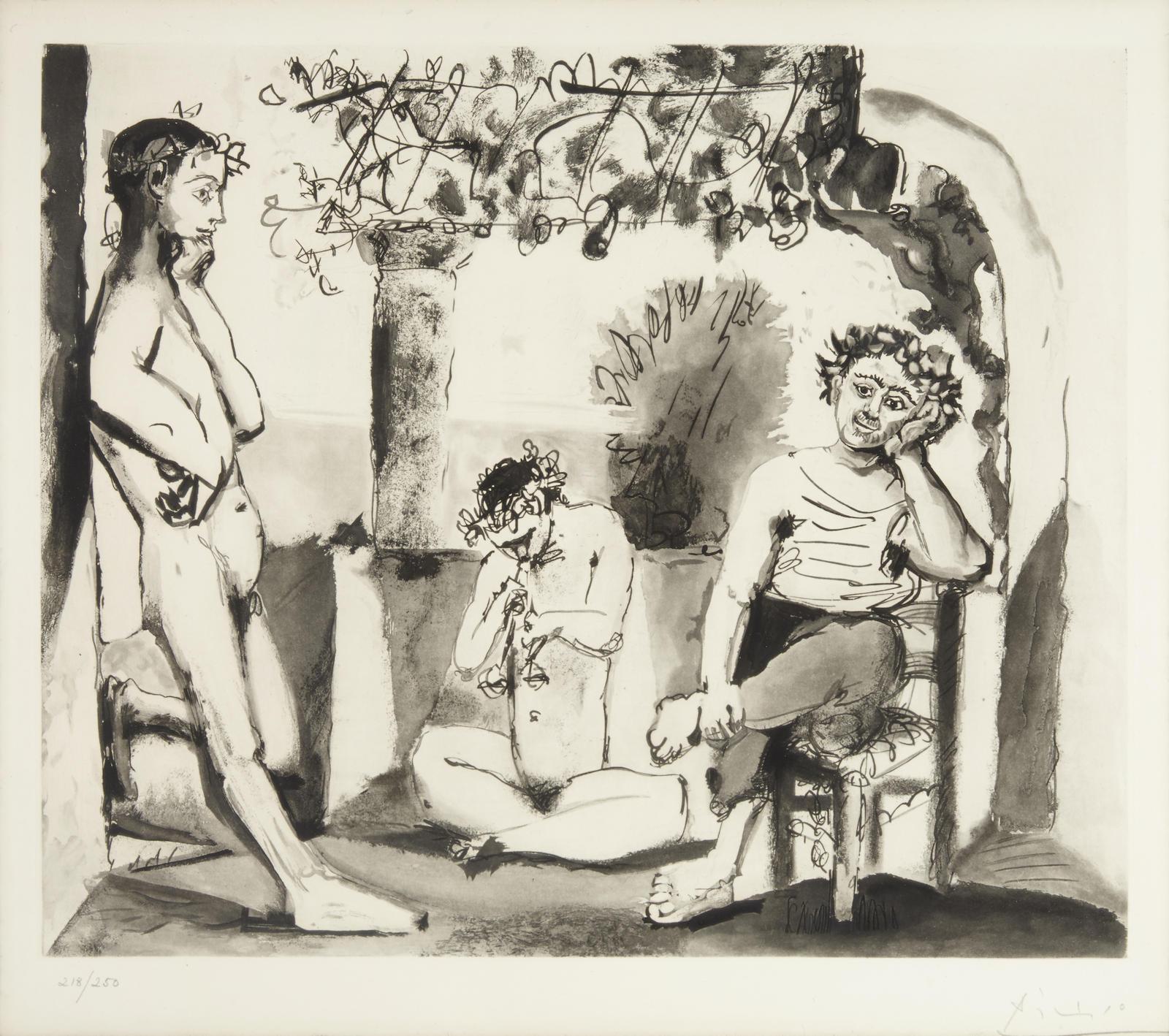 Pablo Picasso-After Pablo Picasso - Bacchanale, c. 1955-1955