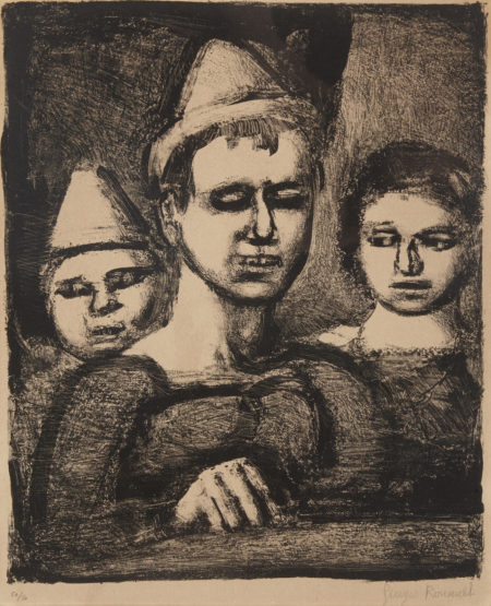 Georges Rouault-Le Trio, from Saltimbanques (C./R. 321)-1929