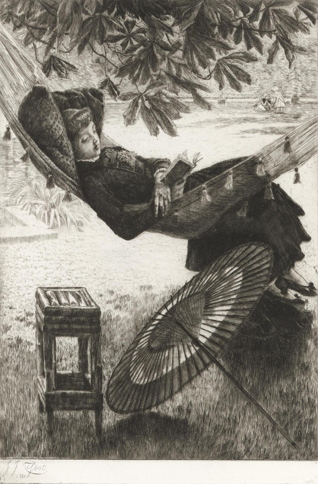 James Jacques Joseph Tissot-Le hamac (W. 46)-1880