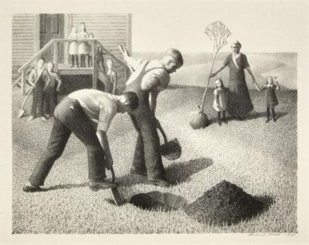 Grant Wood-Tree Planting Group (C. 1)-1937