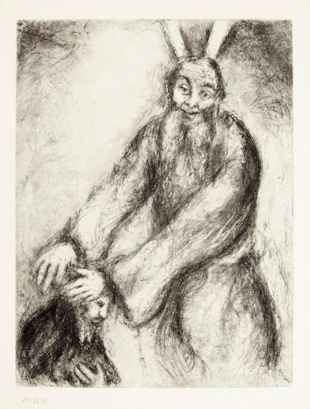 Marc Chagall-Joshua Blessed by Moses; Solomon Greets the Queen of Sheba, from The Bible (V. 240, 278; C. bk. 30)-1939