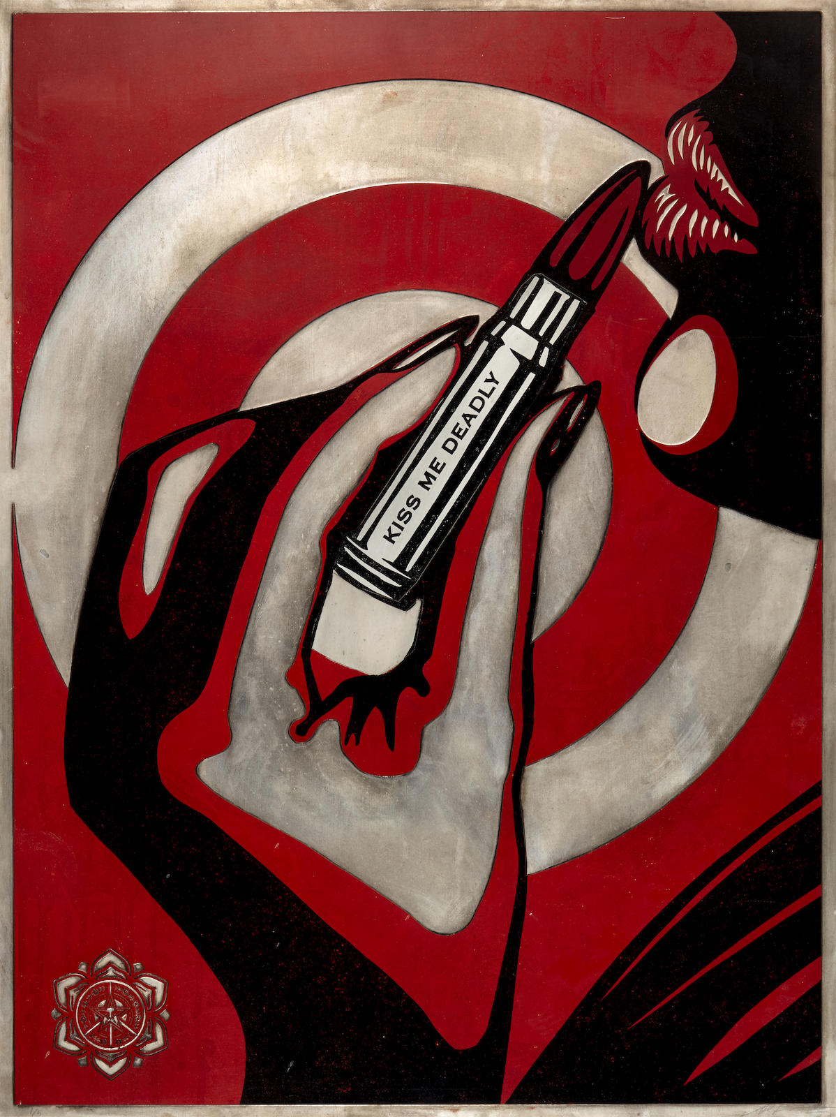 Shepard Fairey-Kiss Me Deadly-2012