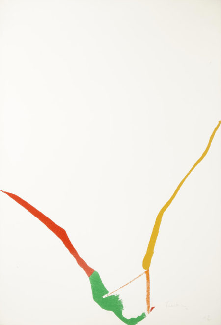 Helen Frankenthaler-Pl. 3, from What Red Lines Can Do (H. 24)-1970
