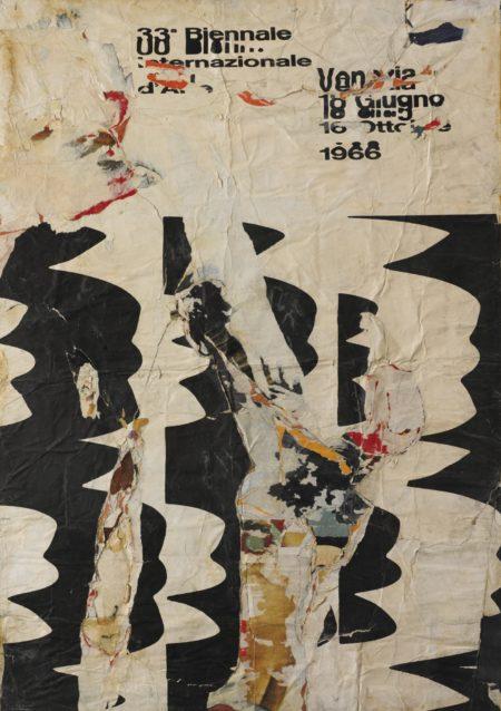 Raymond Hains-Manifesto Della Biennale Scoppiata, Venezia-1966