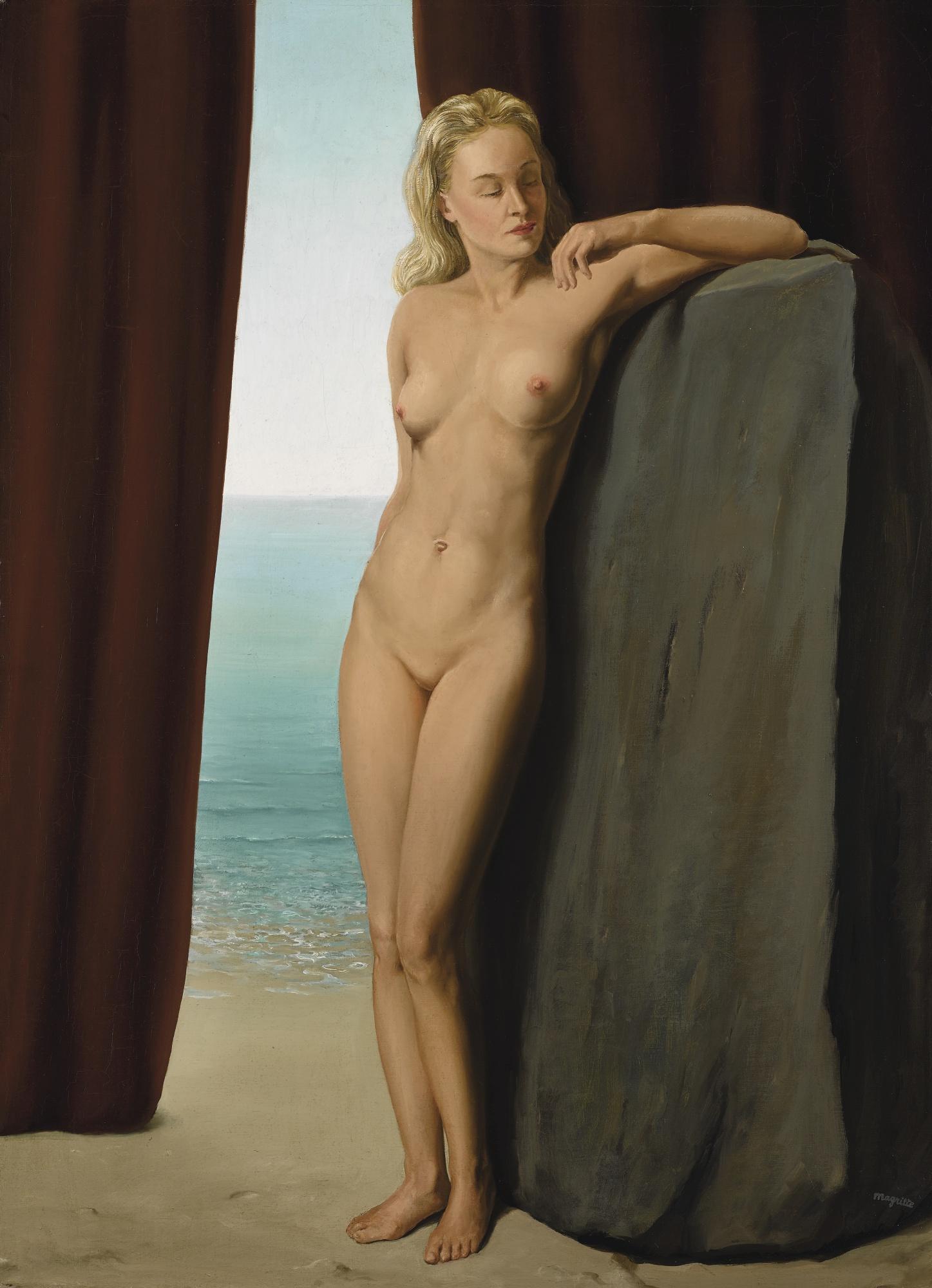 Rene Magritte-La Femme Au Miroir-1942