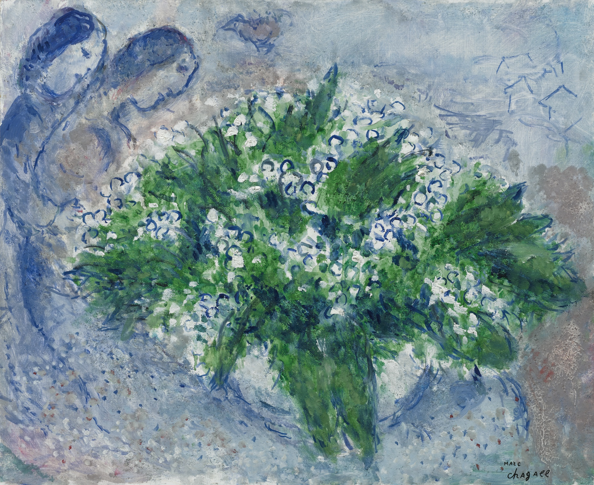 Marc Chagall-Le Muguet-1975