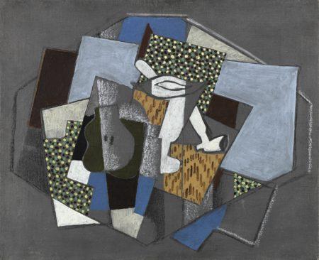 Georges Braque-Verre, Pipe Et Poire-1917