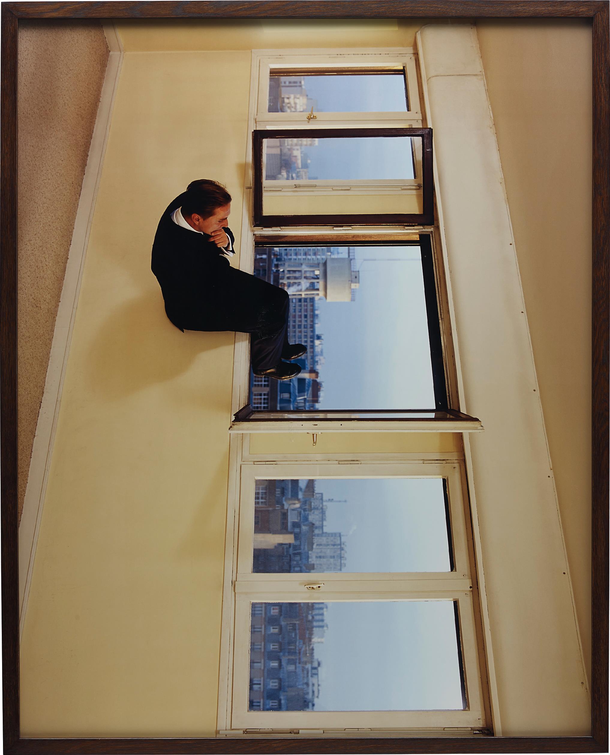 Philippe Ramette-Contemplation Irrationnelle (Irrational Contemplation)-2003