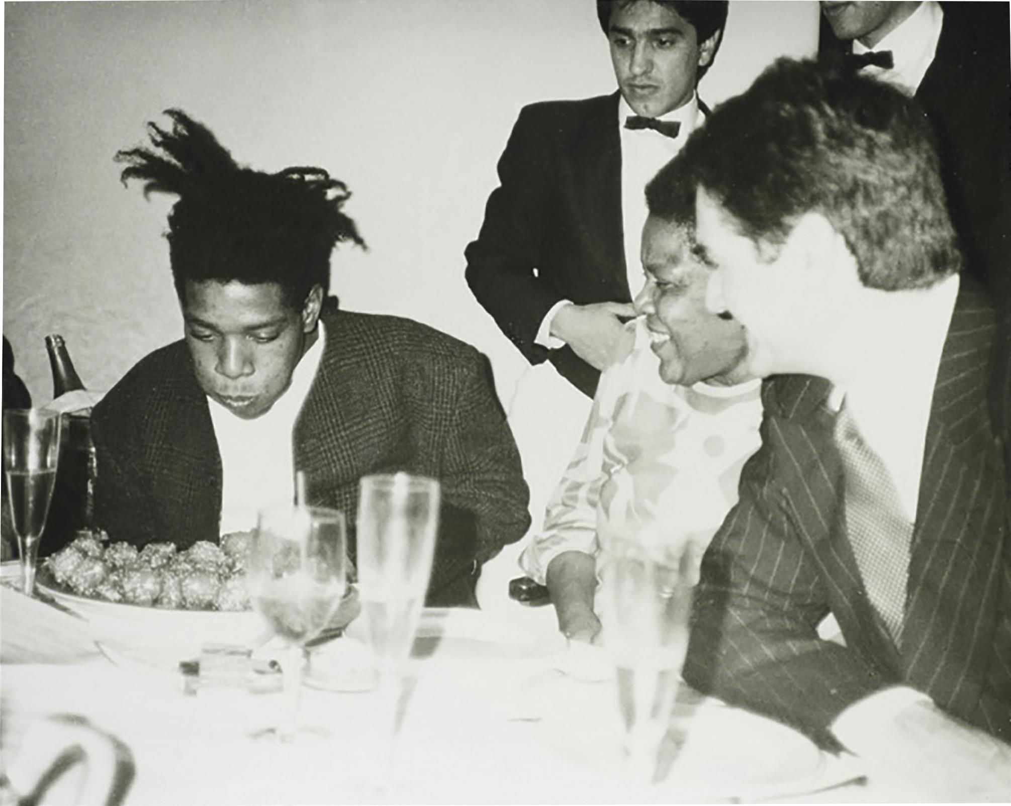 Andy Warhol-Jean-Michel Basquiat, Basquiat's Mother and friends-1984