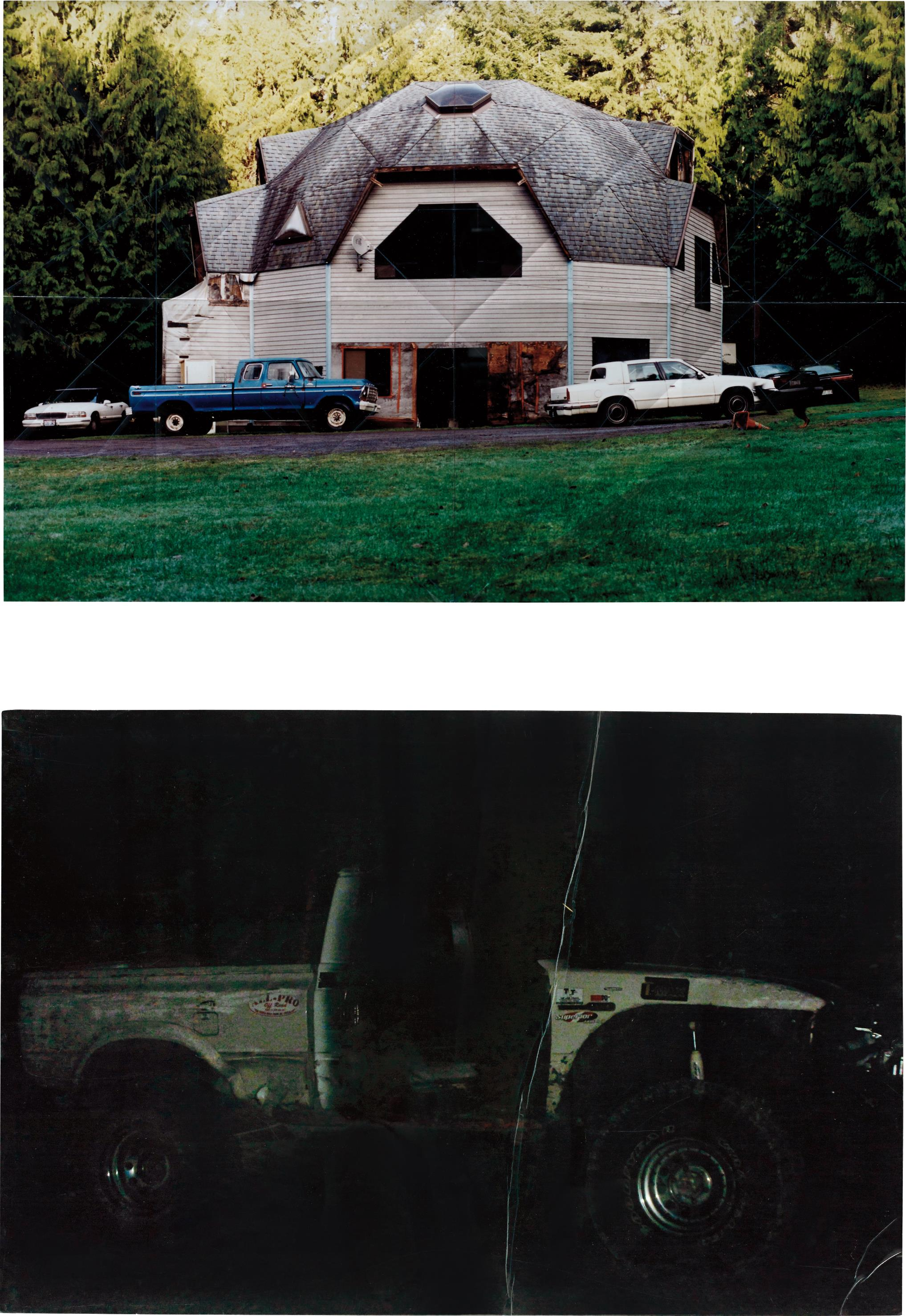 Oscar Tuazon-Two works: (i) Geodesic Dome House; (ii) Off Road-2007