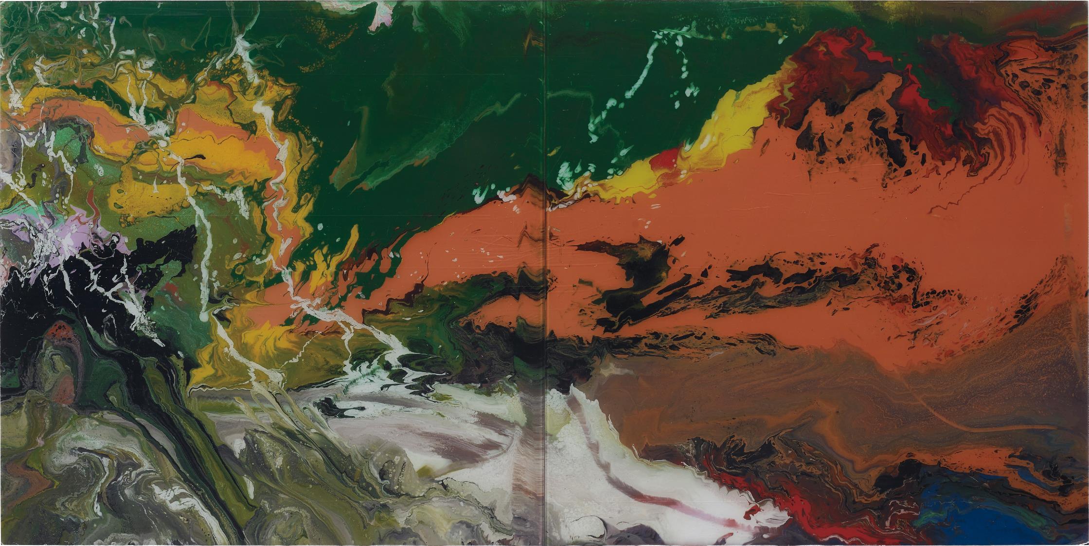 Gerhard Richter-P15 Flow-2016