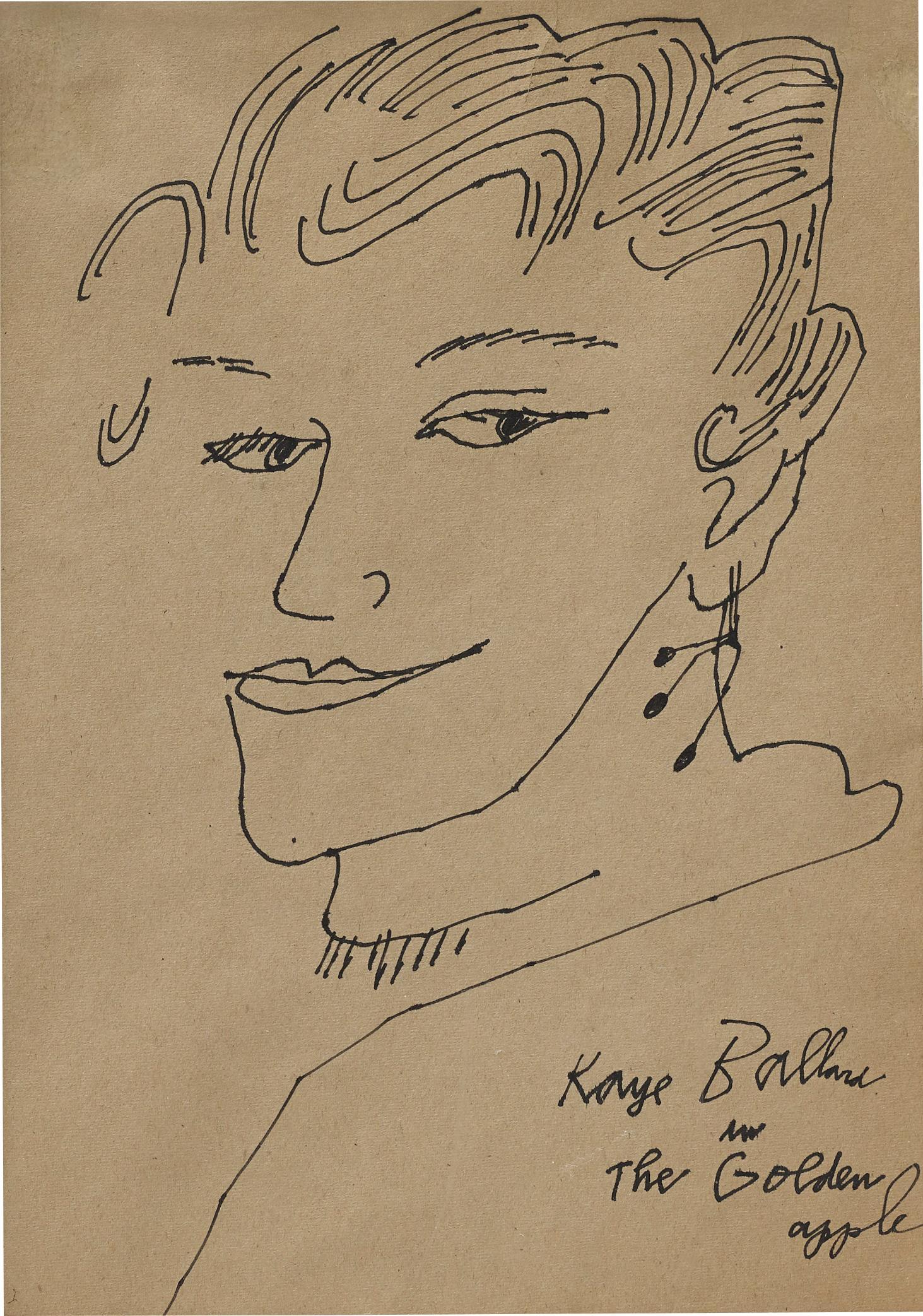 Andy Warhol-Kaye Ballard in the Golden Apple-1957