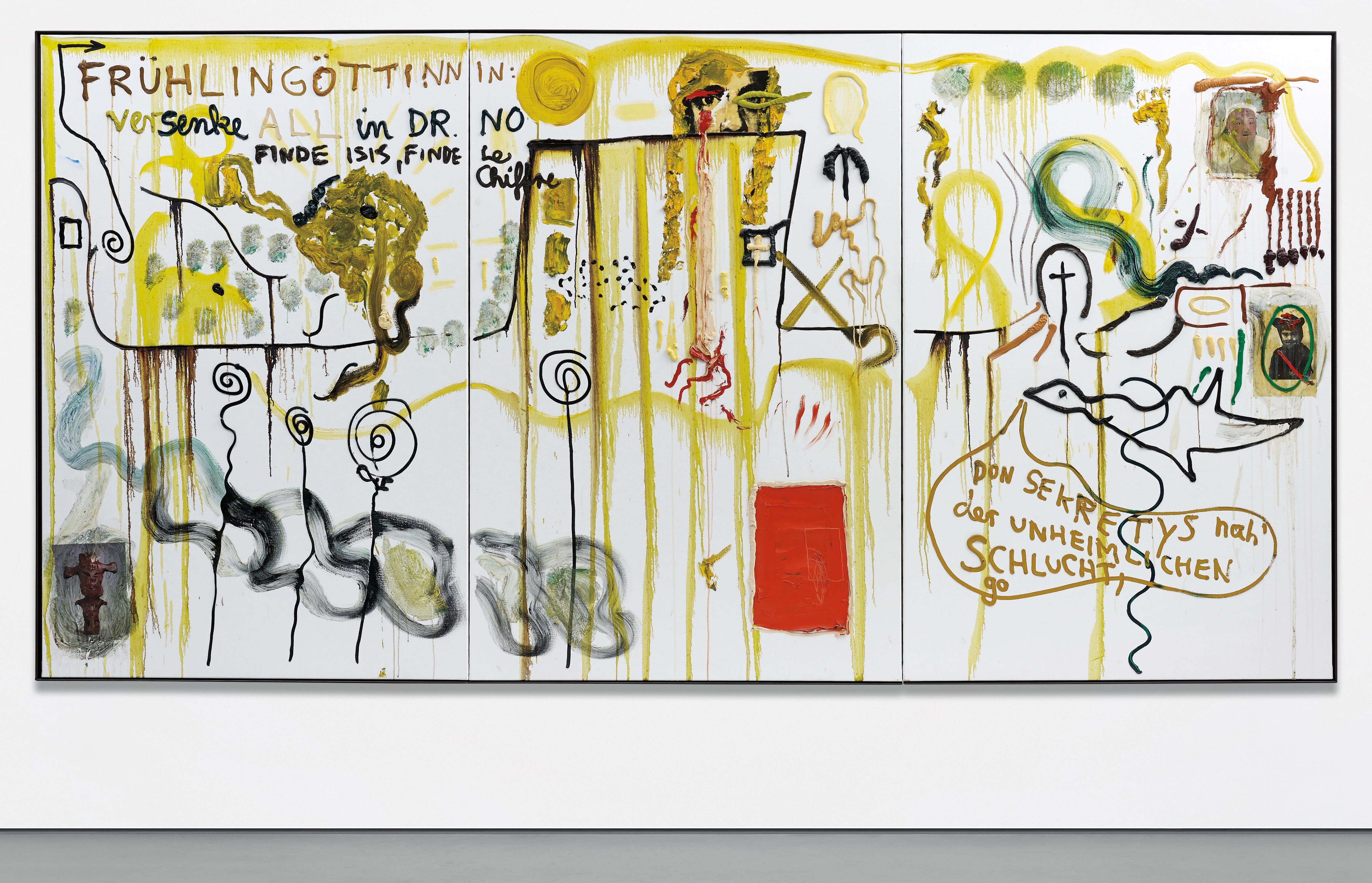 Jonathan Meese-Pony, Blankfisch, und Tschuss-2007