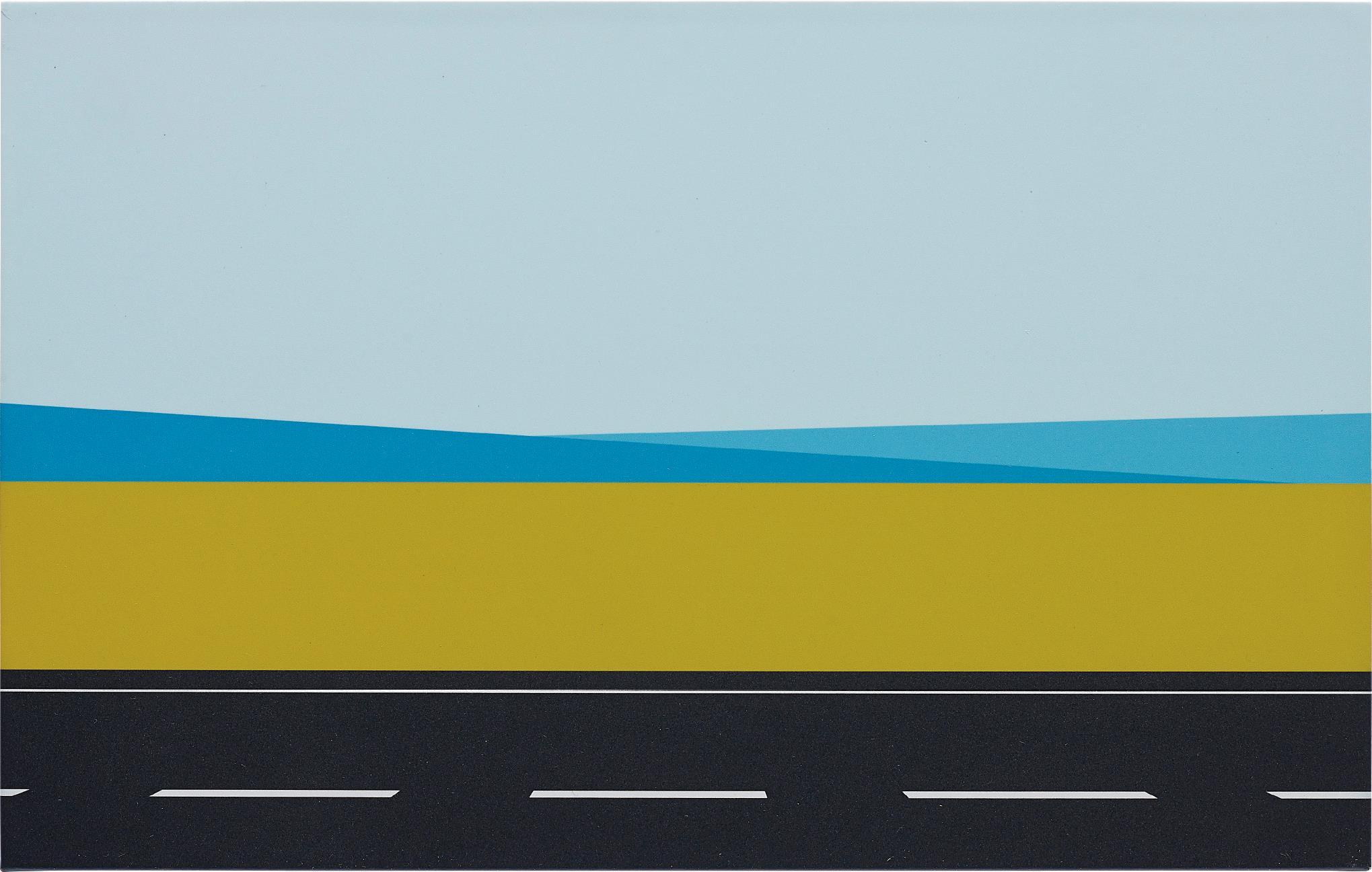 Julian Opie-Roadscape 61-2001