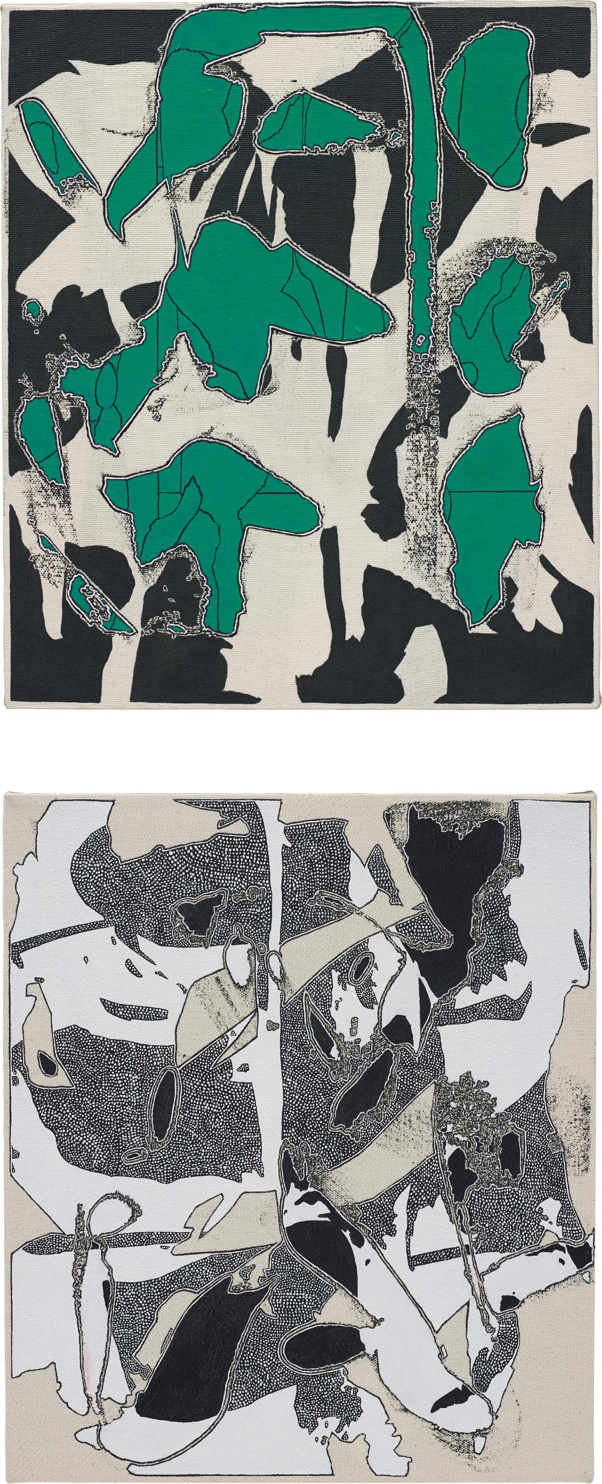 Zak Prekop-2 works: (i) Reversal with Green; (ii) Unmeasured Pattern-2014