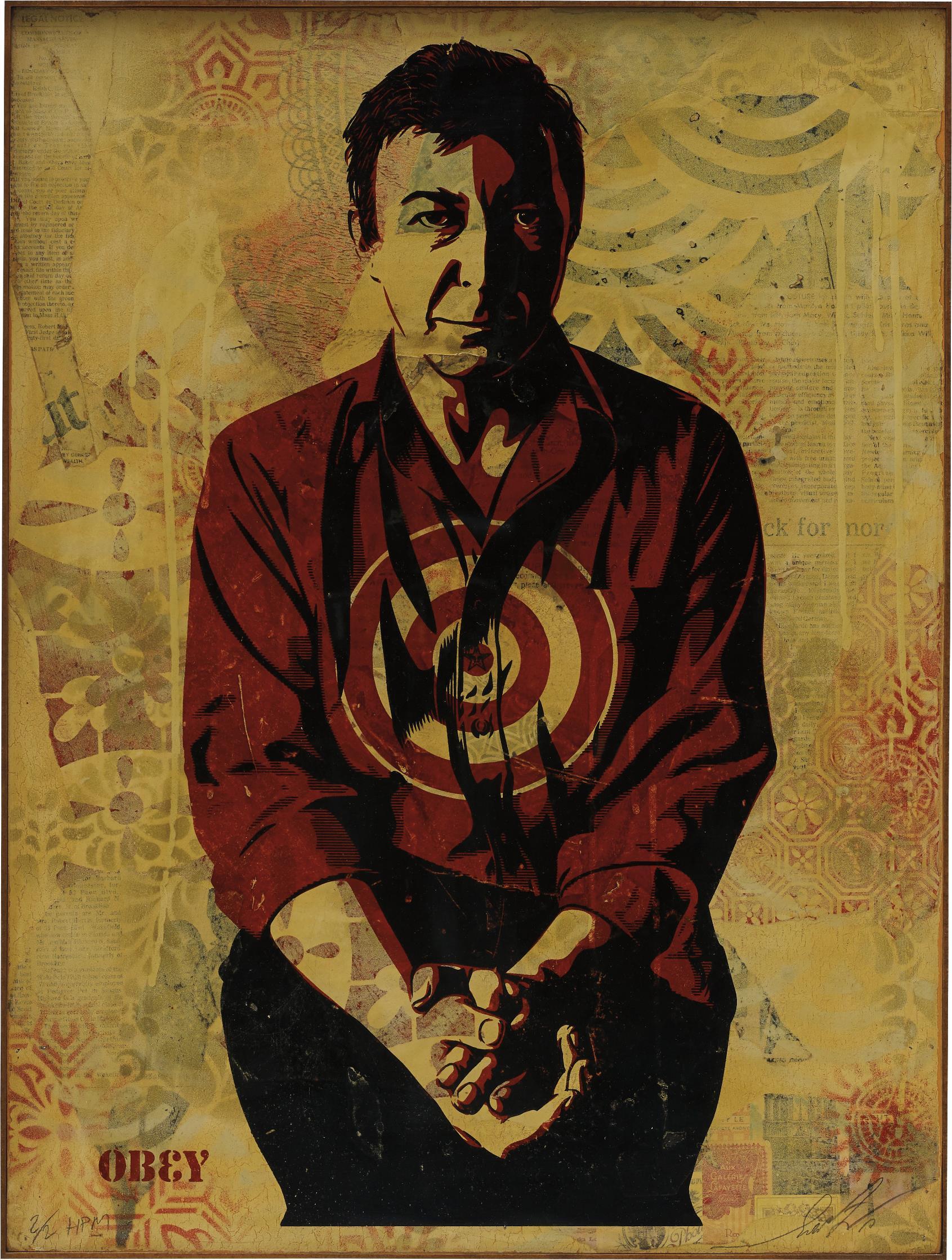 Shepard Fairey-Jasper Johns Cream-2010