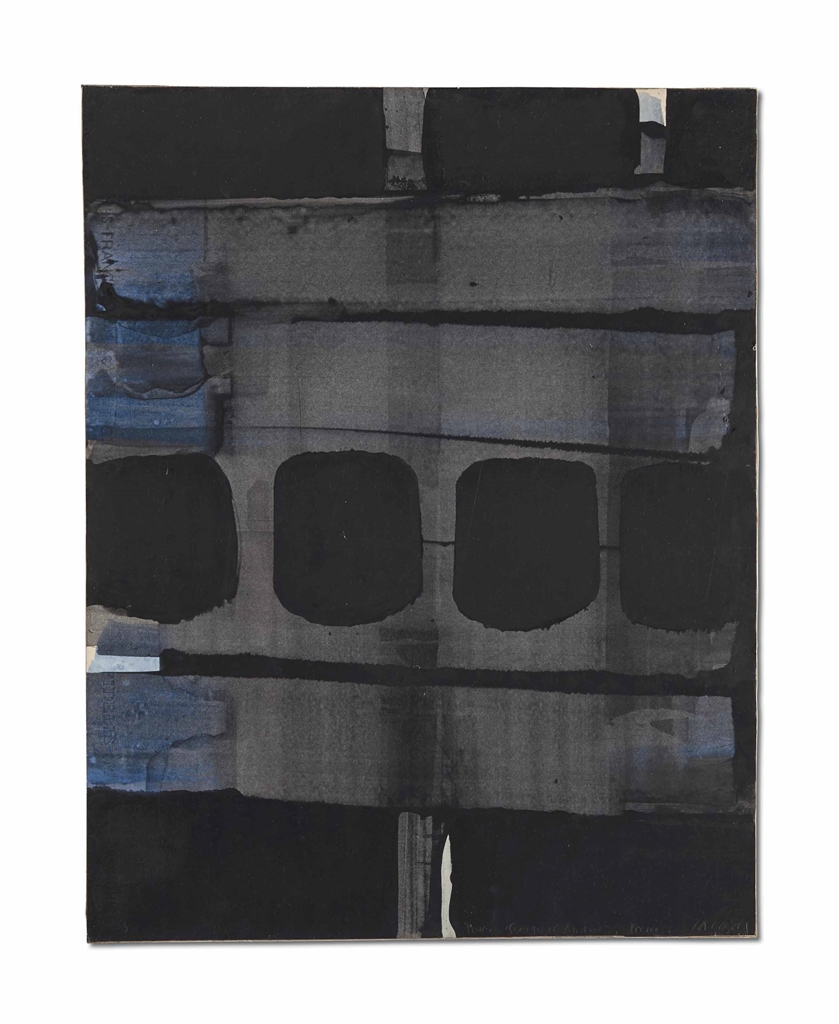 Pierre Soulages-Gouache On Paper 65 x 50 cm, 1973-1973