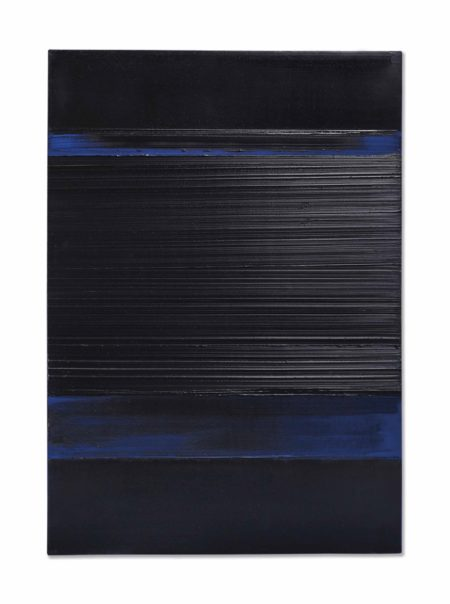 Pierre Soulages-Peinture 130 x 92 cm, 8 Avril 1989-1989