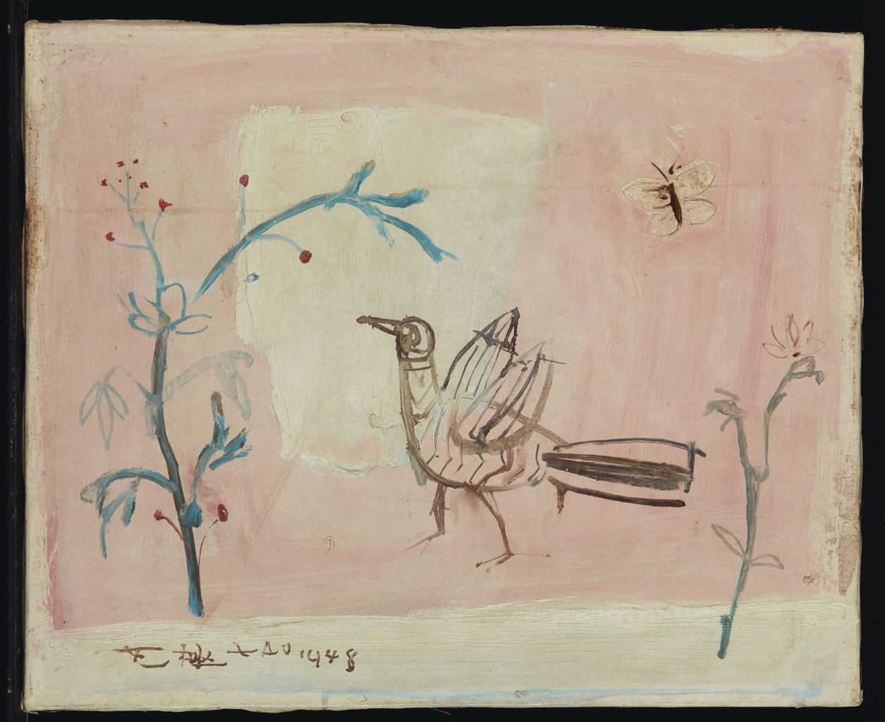 Zao Wou-Ki-Untitled (Bird)-1948