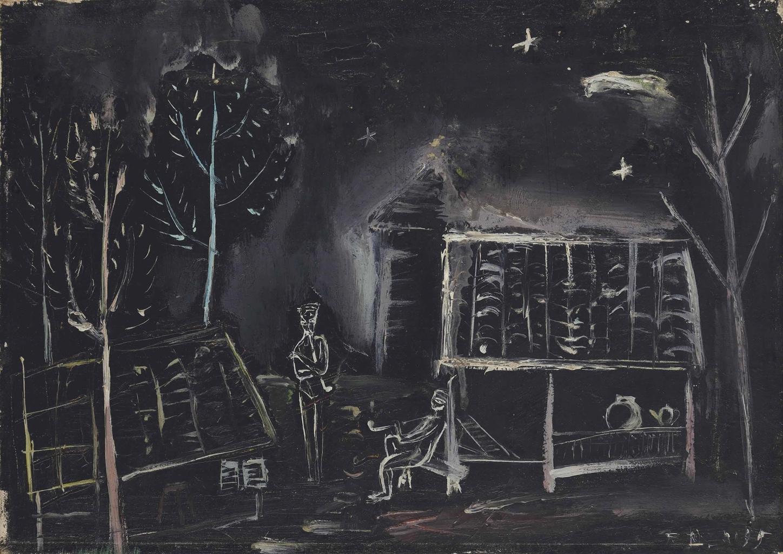 Zao Wou-Ki-Untitled (Nocturnal Landscape)-1945
