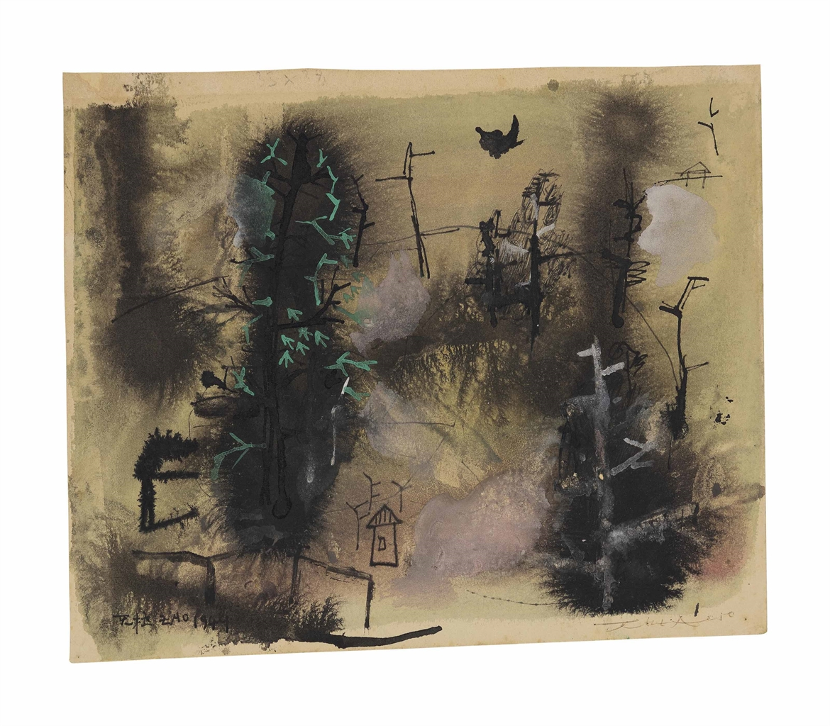 Zao Wou-Ki-Untitled (Forest)-1950