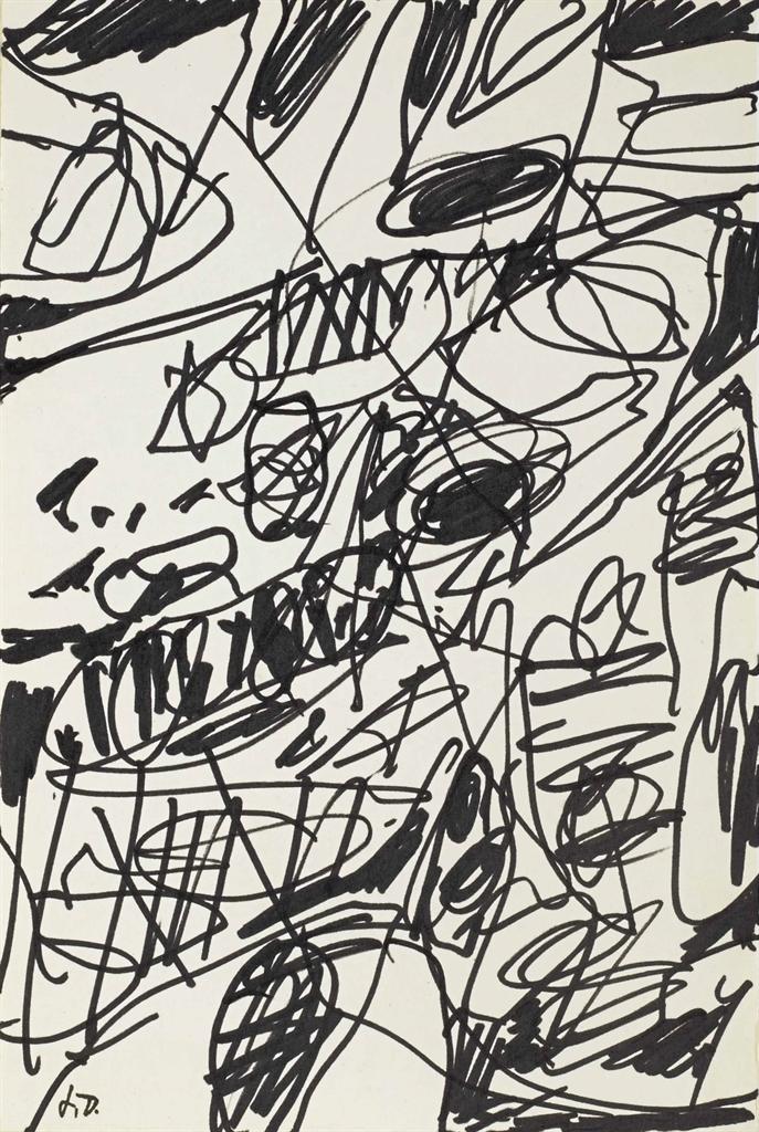 Jean Dubuffet-Non-Lieu V-1984