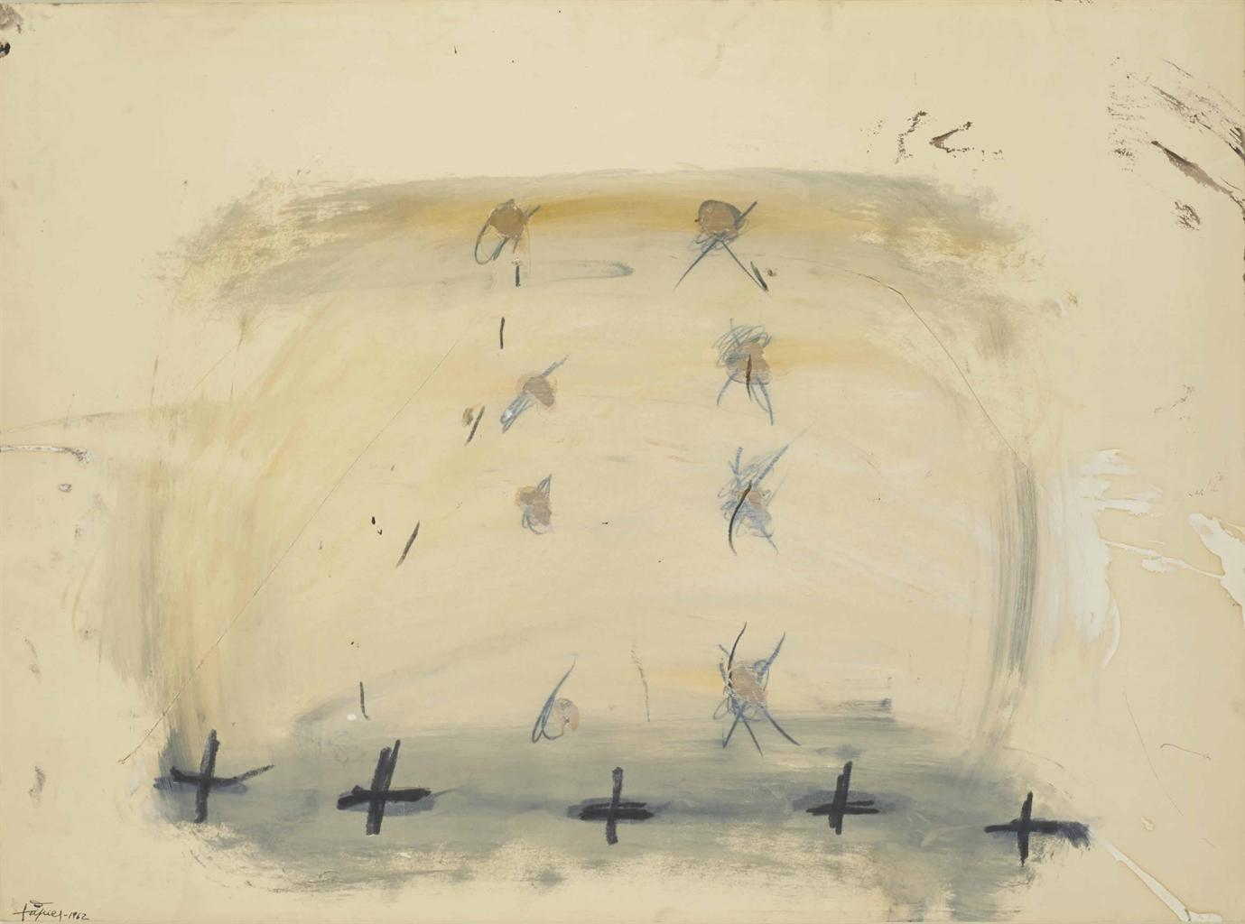 Antoni Tapies-Cinq Croix-1962