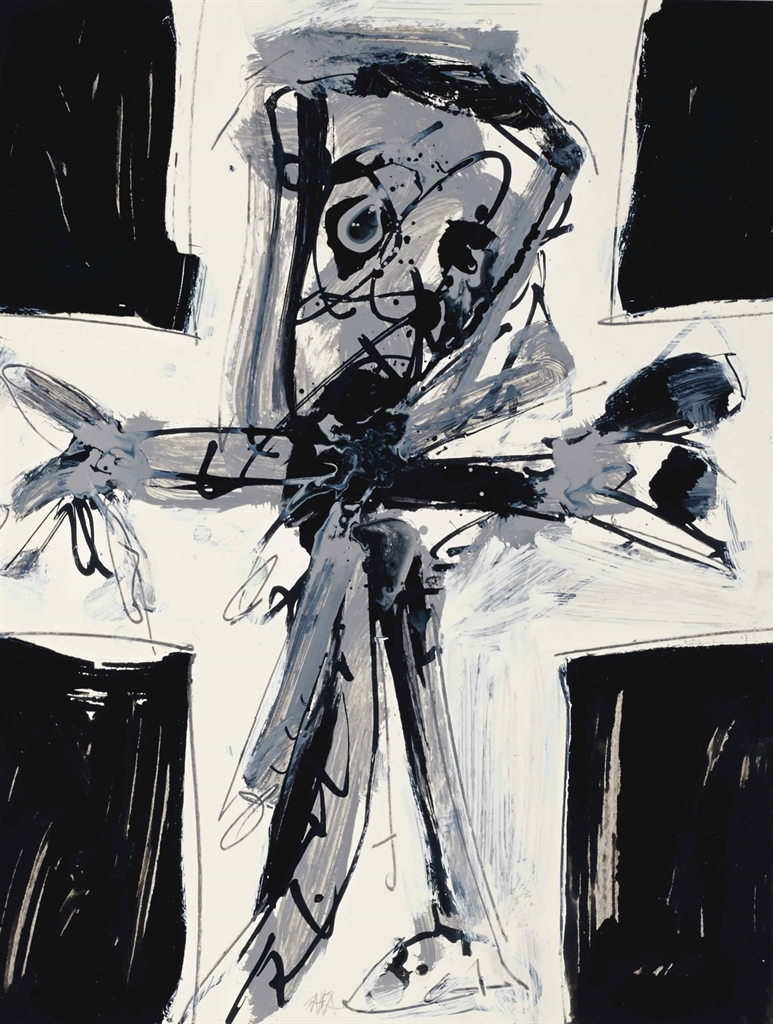 Antonio Saura-Crucifixion-1973