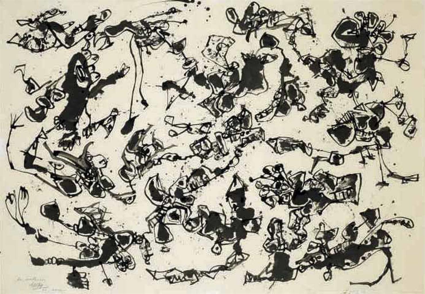 Antonio Saura-Mutacion 2-1961