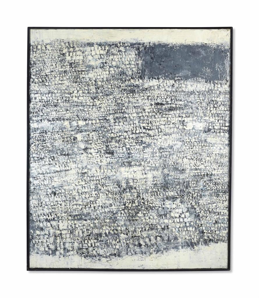 Horia Damian-Composition Grise Et Blanche-1957