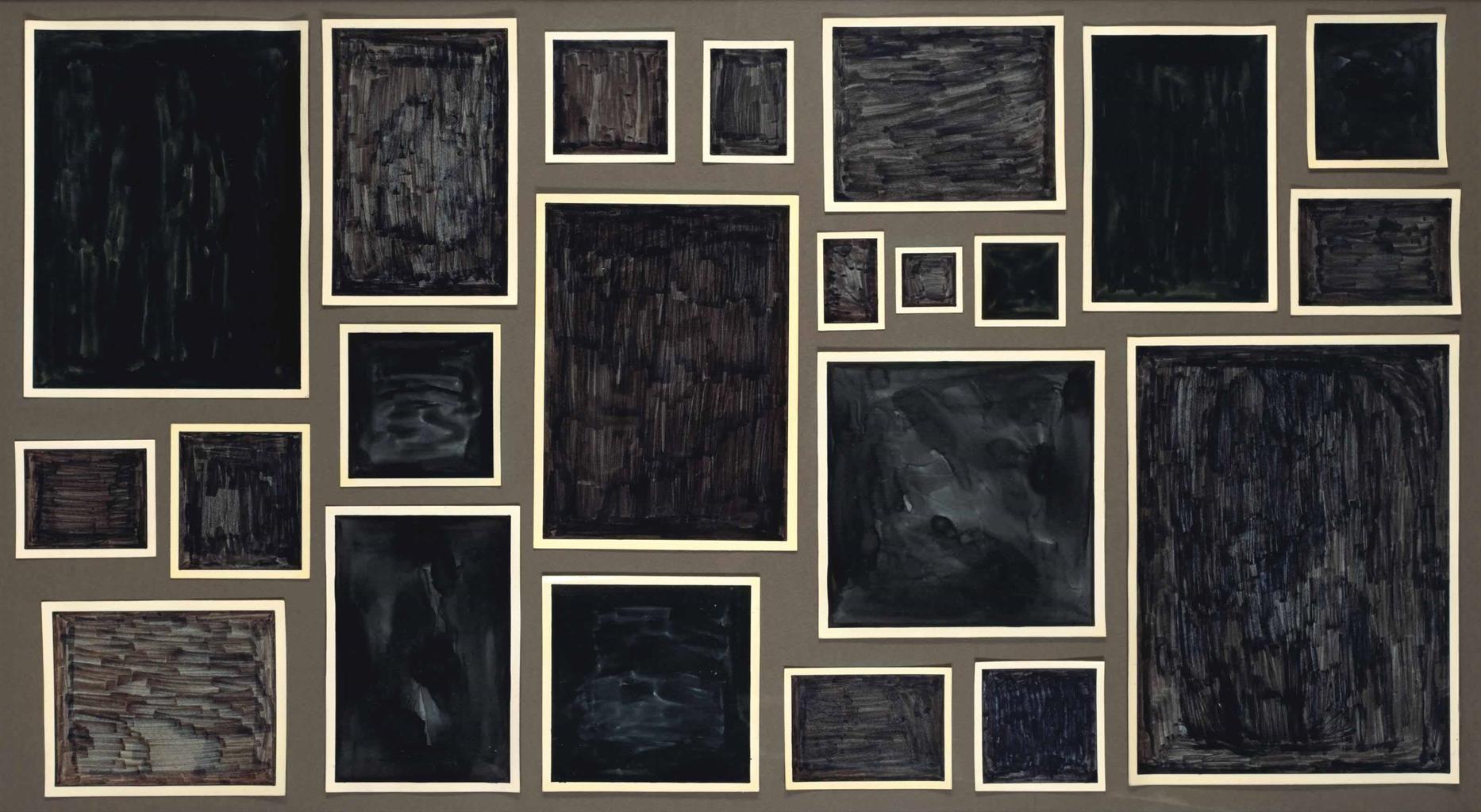 Allan McCollum-Untitled (A Set Of 22 Works)-1980